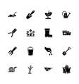 garden - flat icons vector image vector image