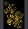 gold ornament with branching elements vector image