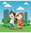 Happy cartoon Kid colorful design vector image