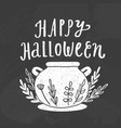 happy halloween chalk style vector image vector image