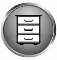icon bookcase vector image vector image