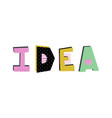 idea lettering vector image