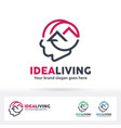 idea living logo vector image