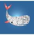 Large ornamental whale vector image vector image