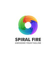 Logo spiral fire gradient colorful