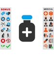 Medication Vial Icon vector image