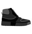 men shoes high top sneakers isolated male man vector image