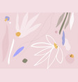 modern abstracts background with floral vector image vector image