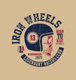 motor skull vintage design biker vector image