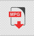 mpg file icon flat vector image