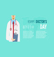 national doctors day stock image vector image