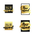new arrival labels set golden textured elements vector image