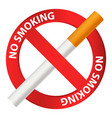 no smoking icon realistic style vector image