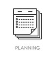 planning isolated icon time management and vector image vector image