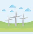 renewable energy from wind turbines vector image