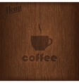 restaurant menu design with coffee cup on wood vector image vector image