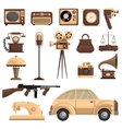 Retro Objects Set vector image vector image