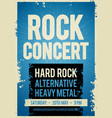 rock concert retro poster design template vector image vector image