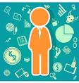 salary icons theme vector image