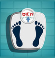 scales for weighing overweight vector image vector image