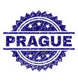 scratched textured prague stamp seal vector image vector image