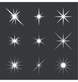 set of sparkle lights vector image vector image