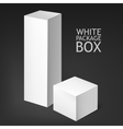 Set realistic white boxes vector image vector image