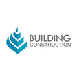 shape building construction logo vector image vector image