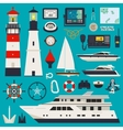 Ships - Yachts equipment vector image vector image