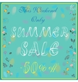 Summer sale Fifty percents off This weekend only vector image vector image