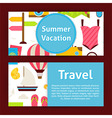 Summer Vacation Concept and Travel Strategy Modern vector image vector image