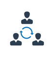 teamwork communication icon vector image vector image