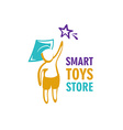 Toy store logo template vector image vector image
