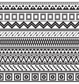 Tribal striped seamless pattern vector image vector image