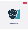 two color ramadan iftar icon from religion-2 vector image vector image