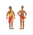 TwoMen In Loincloth From African Native Tribe vector image vector image