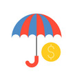 umbrella and coin bank and financial related icon vector image vector image