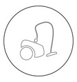 vacuum cleaner icon black color in circle vector image vector image