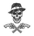 vintage monochrome criminal concept vector image vector image