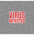 virus detected background with digital vector image vector image