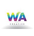 Wa w a colorful letter origami triangles design