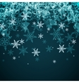 Abstract Winter Background from Snowflakes vector image