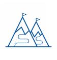 Ski Mountain Icon vector image