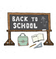 back to school hand drawn sketch doodles set vector image
