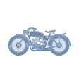 Vintage Motorcycle Silhouette vector image