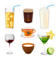 soda with ice in glass take away coffee fresh vector image