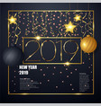 2019 happy new year background for your vector image