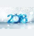 3d blue digits 2018 for the new year vector image vector image