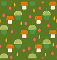 acorn pattern with mushrooms background for web vector image vector image