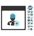 Atomic Engineer Calendar Page Icon With vector image vector image